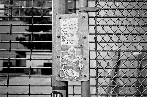 a graffiti sticker by curly found in NYC