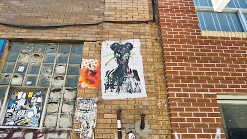 street art by miss bigs in williamsburg brooklyn ny