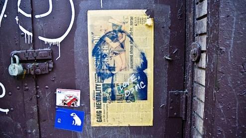 love ocmc blondie street art found in SoHo, NYC