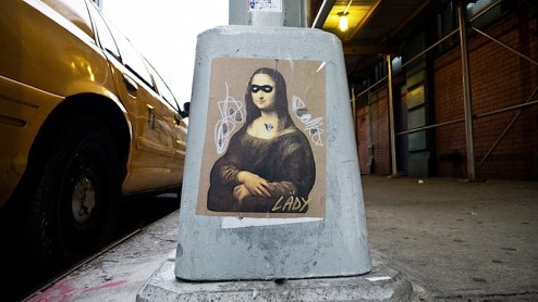 street art by lady in NYC