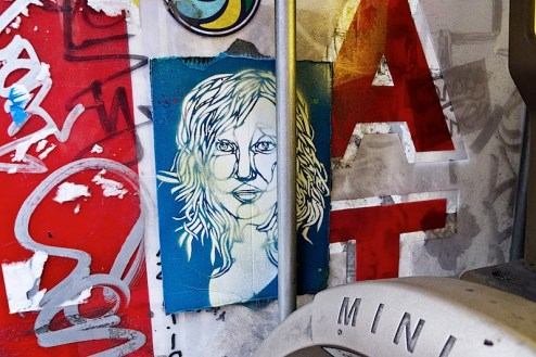 street art graffit by french artist c215 (possibly) found in the west village of NYC