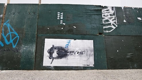 street art by eviair found on 2nd avenue and 14th street in NYC