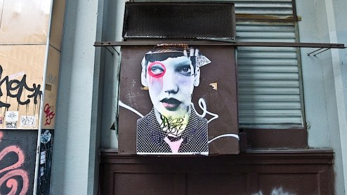 street art by dain found in chinatown, NYC
