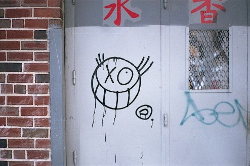 graffiti street art by Monsieur A aka Andre found in NYC