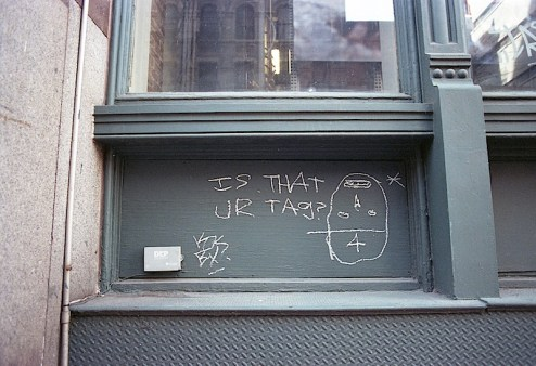 is that your tag graffiti found in SoHo, NYC