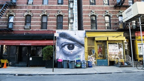 street art by JR in SoHo