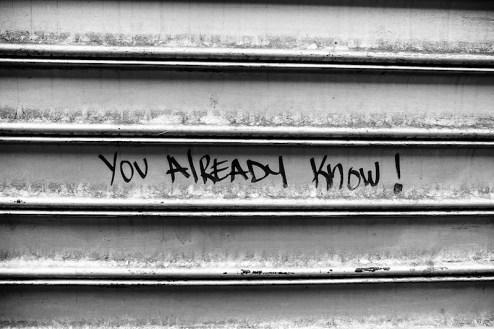 you already know graffiti