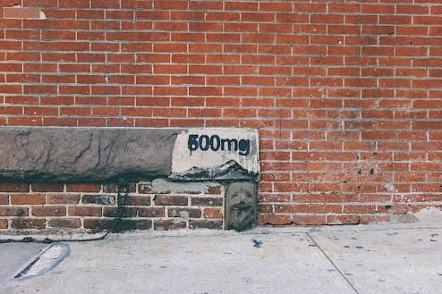 500mg graffiti drug prescription street art found in chealsea, NYC