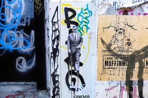 john kennedy street art found in SoHo, NYC