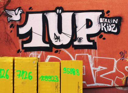 illegal pice of 1UP Crew in Berlin-Kreuzberg