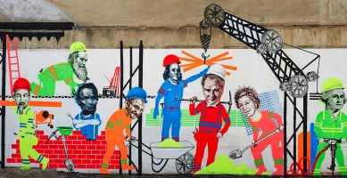 Emess: new mural at ATM Gallery