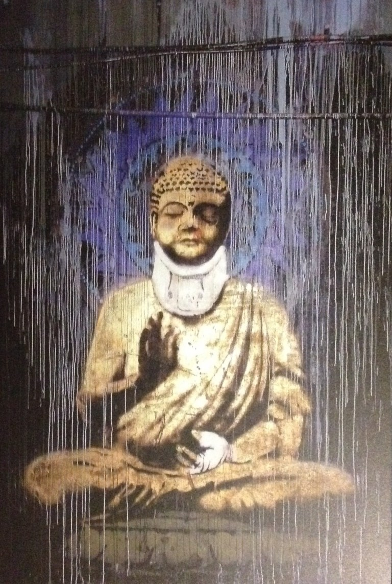 Injured Buddha - Banksy