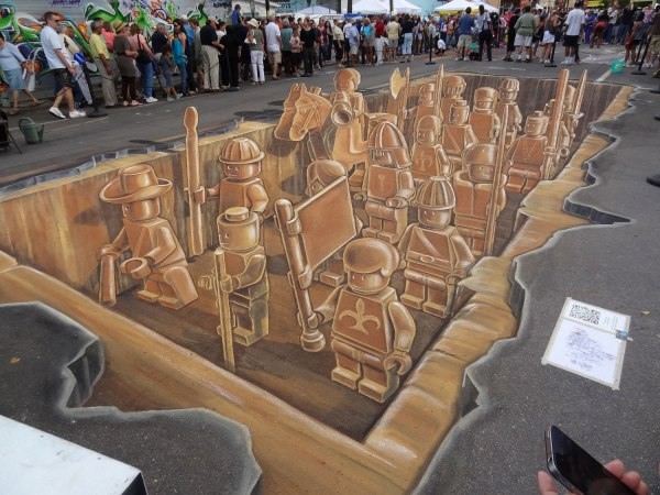 LEGO 3D Street Art