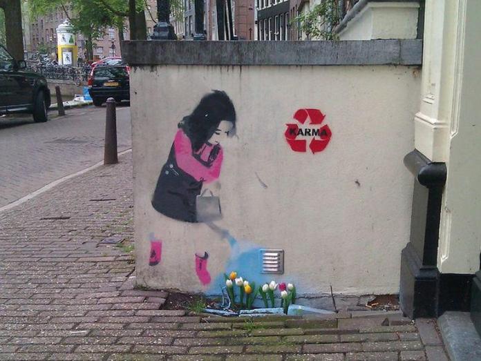 Street Art by Karma – In Keizersgracht, Amsterdam