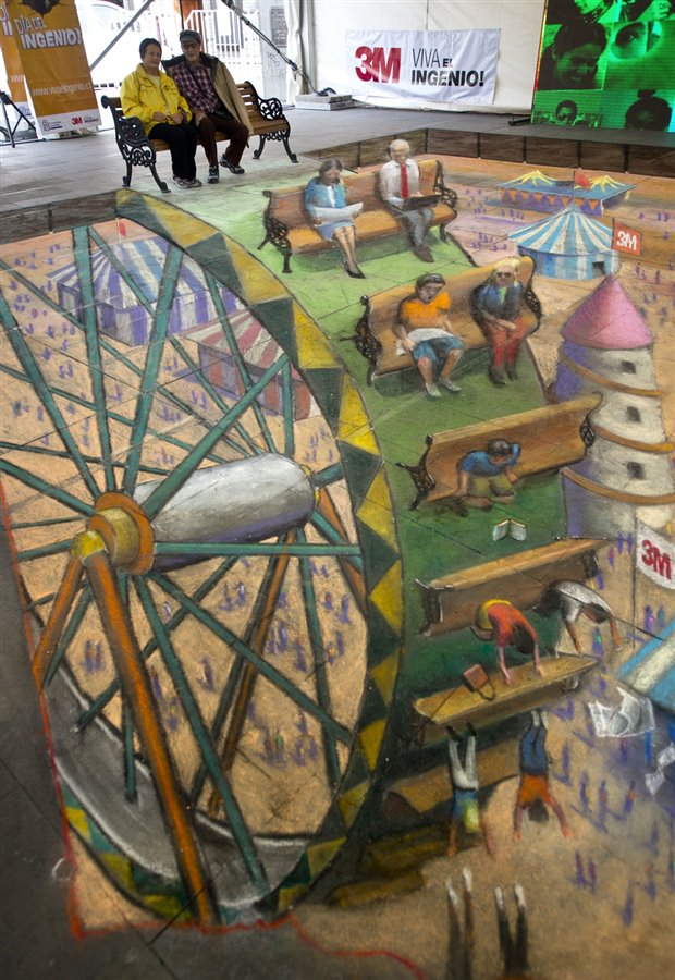 By Julian Beever – In Chile