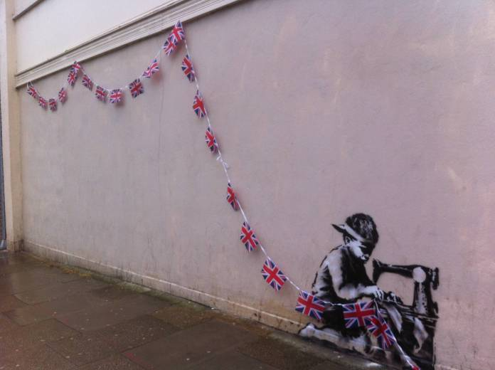 Banksy back to celebrate the Queen's diamond jubilee in North London?