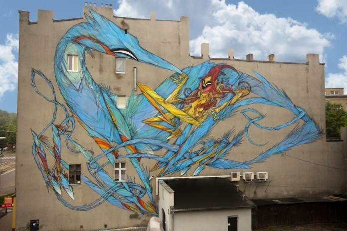 By SHIDA on Urban Forms Gallery in Lodz, Poland