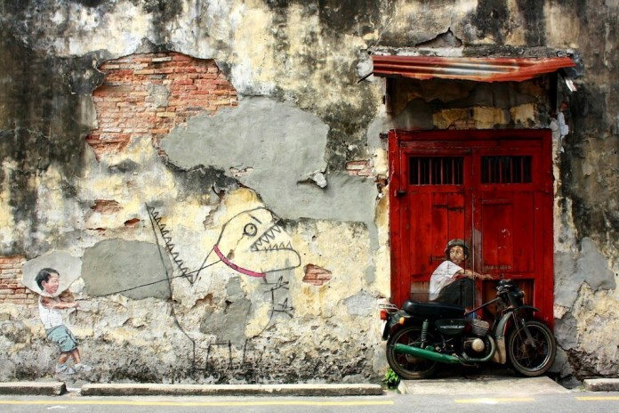 Street Art by Ernest Zacharevic in Penang, Malaysia – A Collection