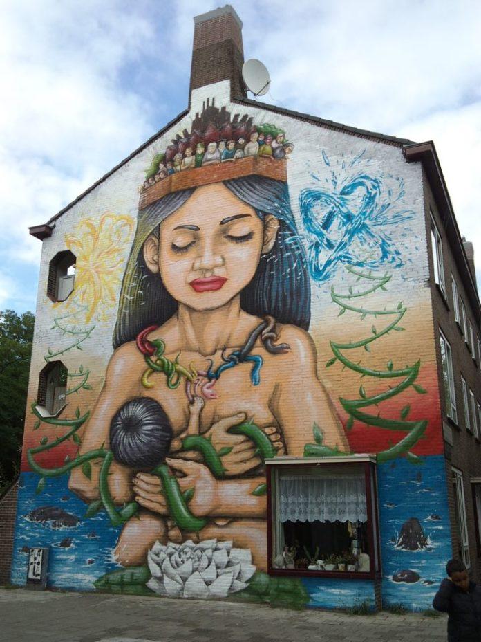 Mural in Slotermeer-Noordoost, Amsterdam, Netherlands