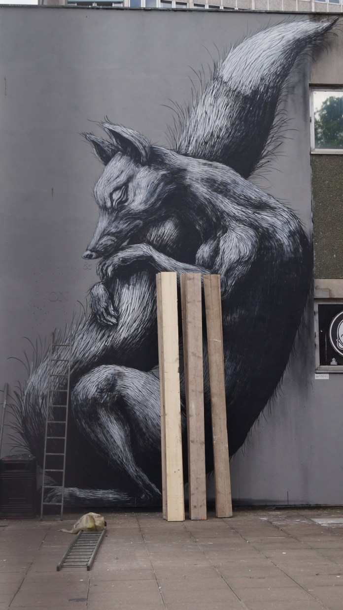 By ROA in Bristol, UK