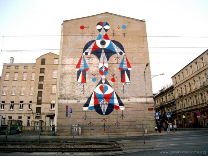 17 Galeria Urban Art Forms in Lodz, Poland. By Remed