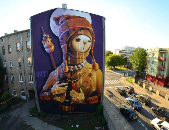 8 Galeria Urban Art Forms in Lodz, Poland. By Inti