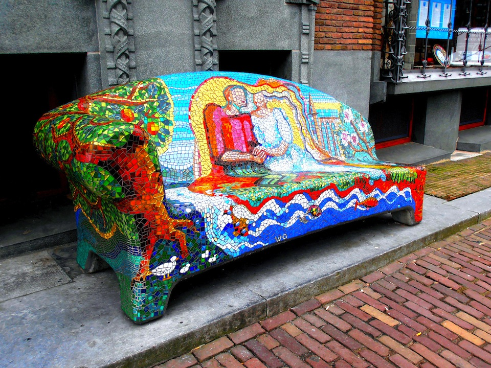 Mosaic Street Art in Amsterdam, Holland, NL