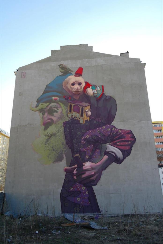 Street Art by Etam Cru – In Warsaw, Poland