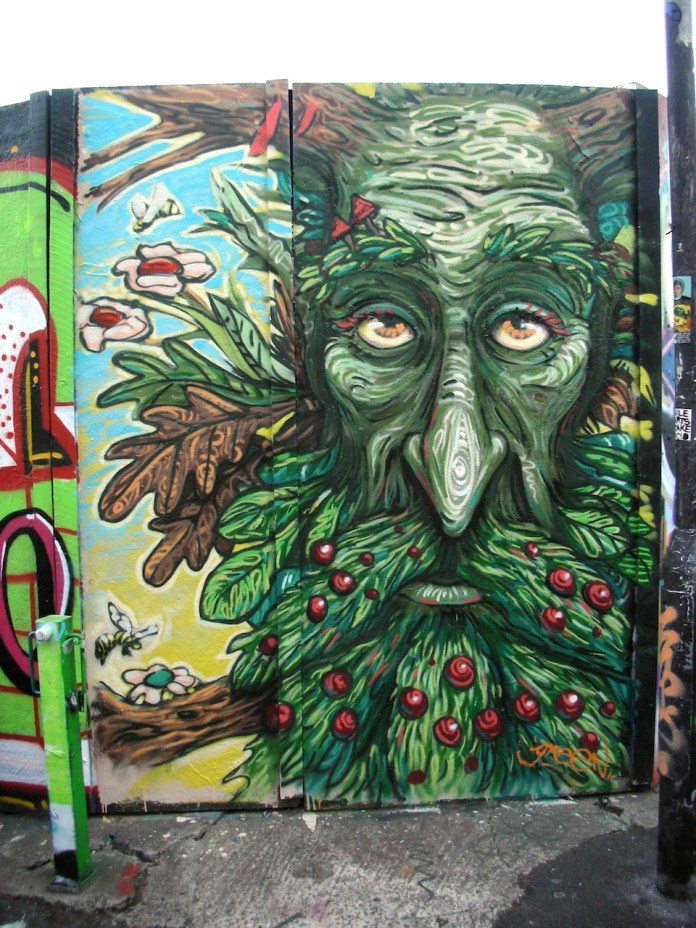 Graffiti by Uri Green in Barcelona, Spain 2