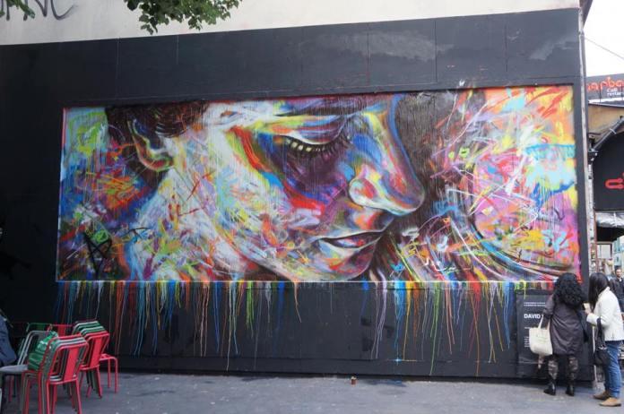 Street Art by David Walker in Paris, France