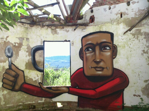 Street Art by FALKO, stutterheim in Eastern Cape, South Africa