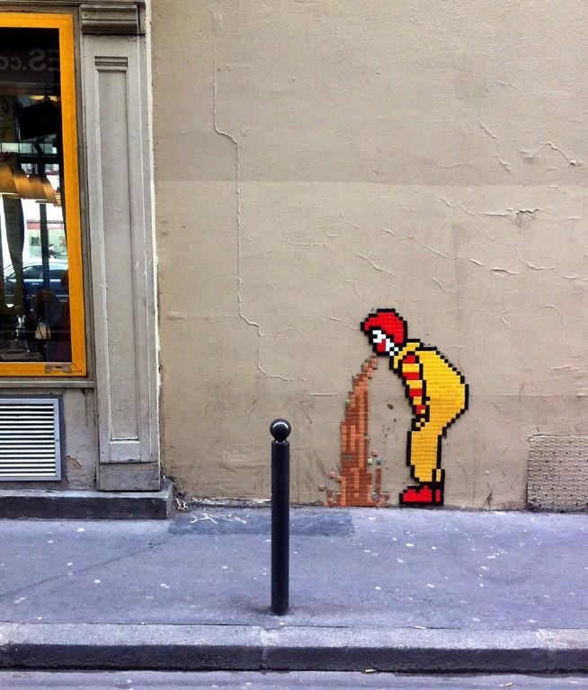Street Art at Rue Édouard Lockroy, Paris 11ème arrondissement, France