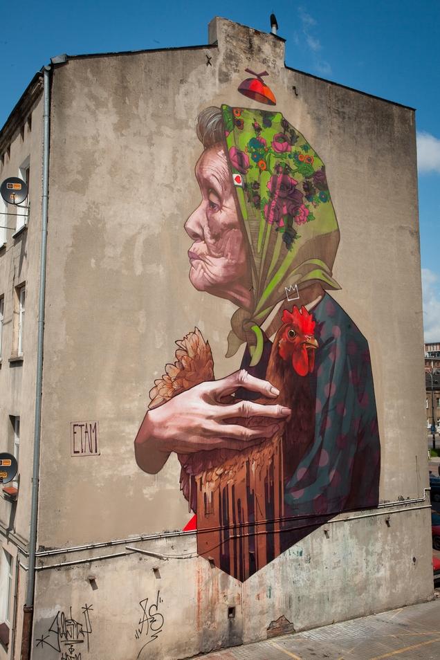 Street Art by ETAM CRU in Lodz, Poland 2