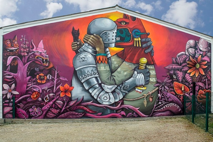 Street Art by Saner on Festival Cheminance in Fleury les-Aubrais, France