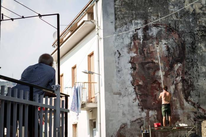 Street Art by Borondo in Sapri SA, Italy at Oltre il Muro Festival 3