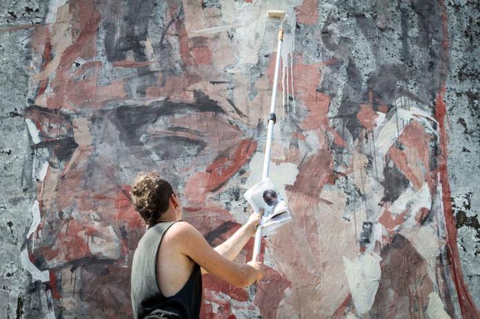 Street Art by Borondo in Sapri SA, Italy at Oltre il Muro Festival 4