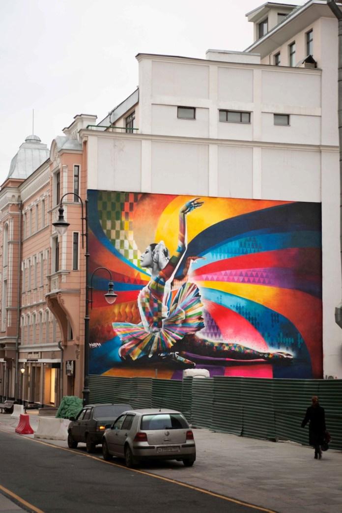 Street Art by Eduardo Kobra in Moscow, Russia