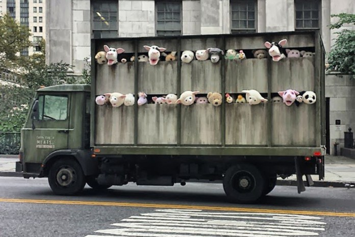 By Banksy: The Sirens of the Lambs – In New York, USA