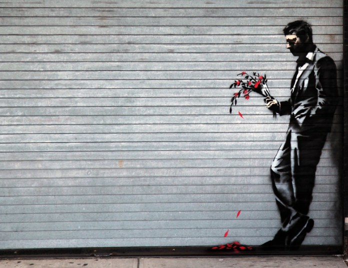 Waiting in vain - By Banksy in Hell's Kitchen, New York, USA 1