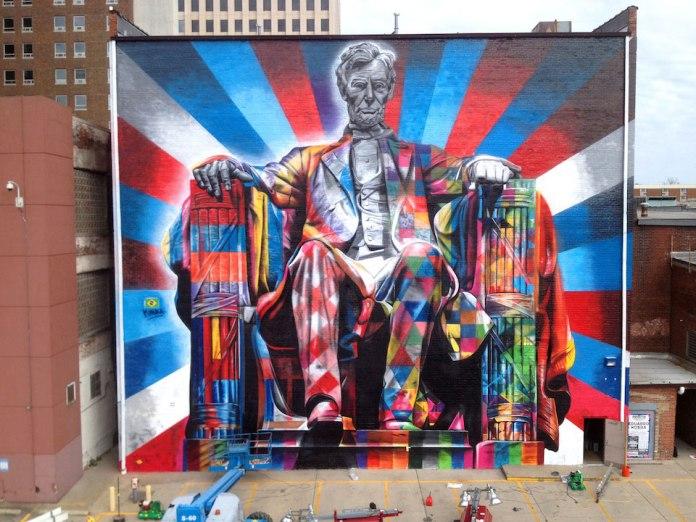 By Eduardo Kobra of Abraham Lincoln in Kentucky, USA