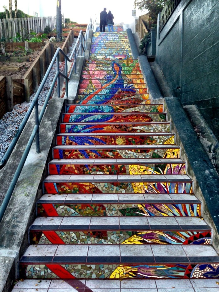 Mosaic Staircase in Inner Sunset, San Francisco, USA 1