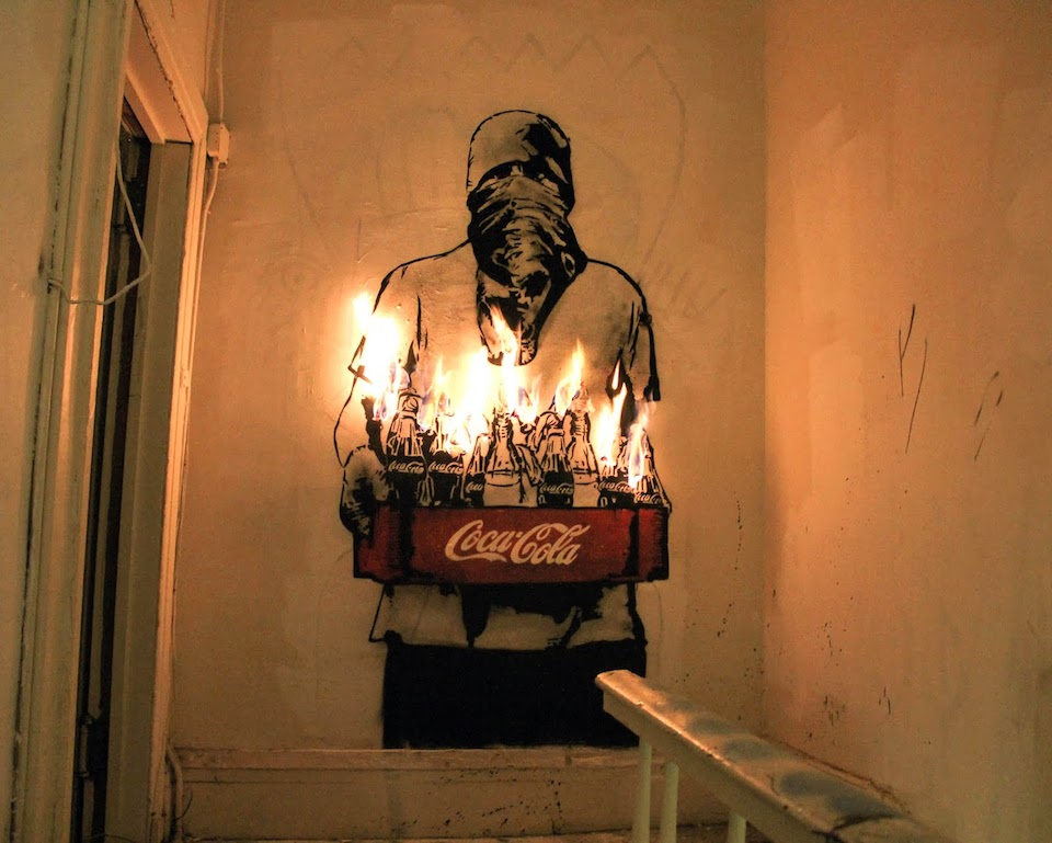 Street Art by Icy and Sot in Lower east side, New York, USA - Coca Cola Molotows 539