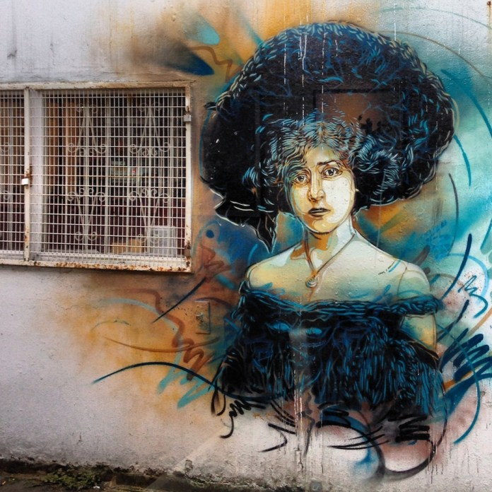 Street Art by C215 in East London, UK 2