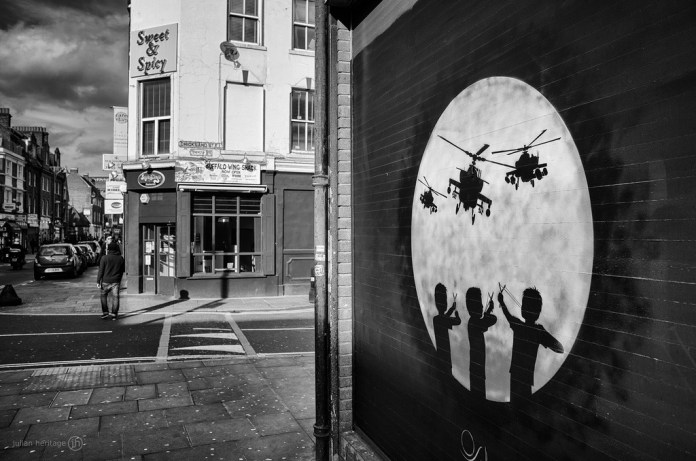 Street Art by Otto Schade (OSCH) in Brick Lane, London, England