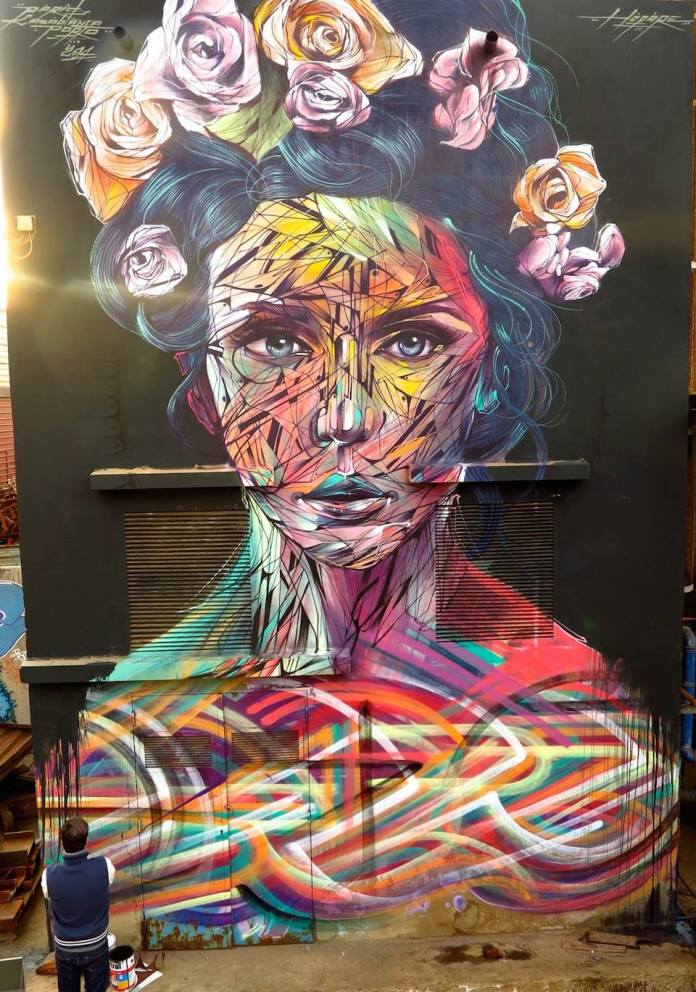 Street Art by Hopare – In Casablanca, Morocco