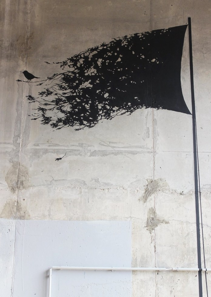 My only flag - By Pejac in Moscow, Russia