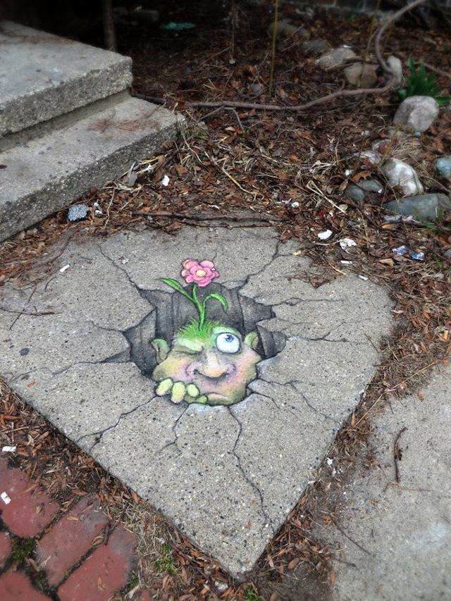 Chalk Art by David Zinn in Michigan, USA 4585678