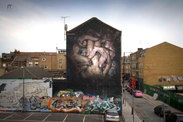 Street Art by Borondo in Shoreditch, East London 1