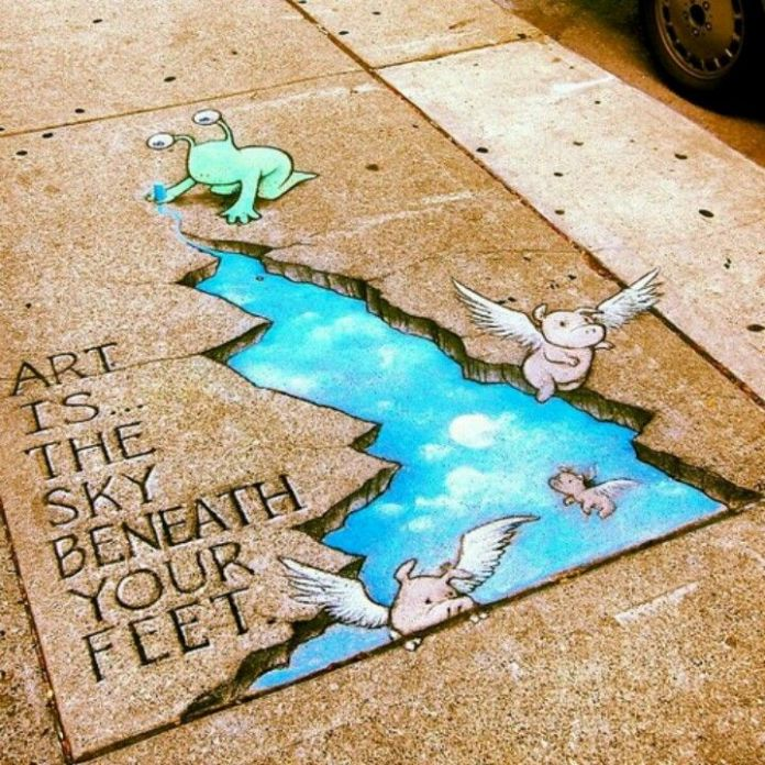 Chalk-Art-by-David-Zinn-in-Michigan-USA-4585679