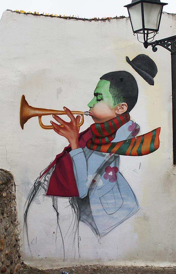 Street Art by Cheko - Winter Jazz in Granada, Spain 2